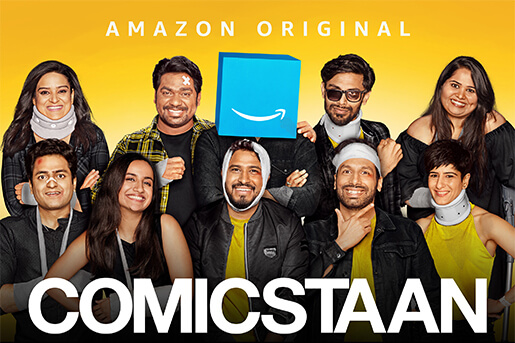 Comicstaan-best indian shows on amazon prime