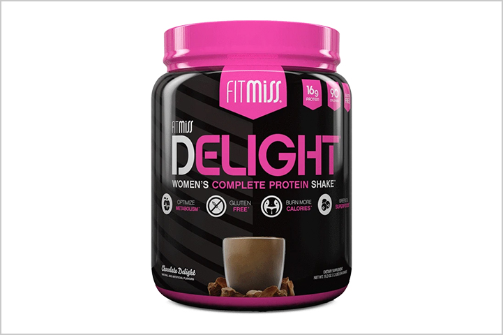 Fitmiss Delight- best protein powders for women in India