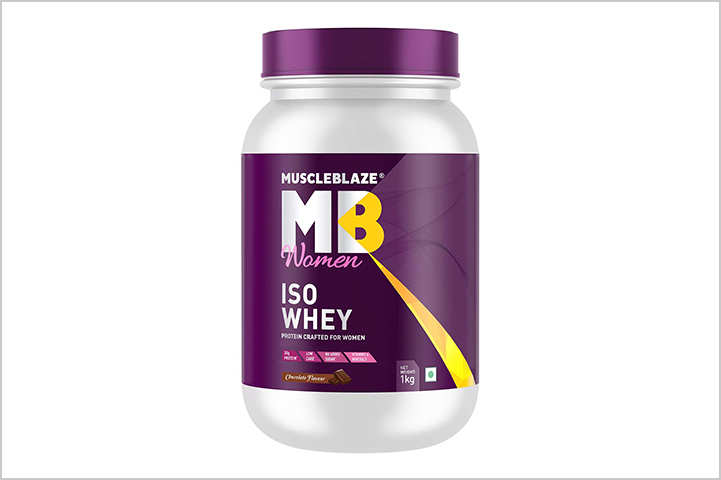 Muscleblaze Women ISO 100% Whey Protein Isolate- best protein powders for women in India