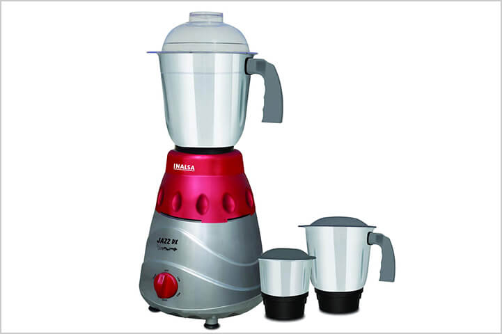 Inalsa Jazz Dx 780-Watt Mixer Grinder with 3 Jars-best mixer grinders in India