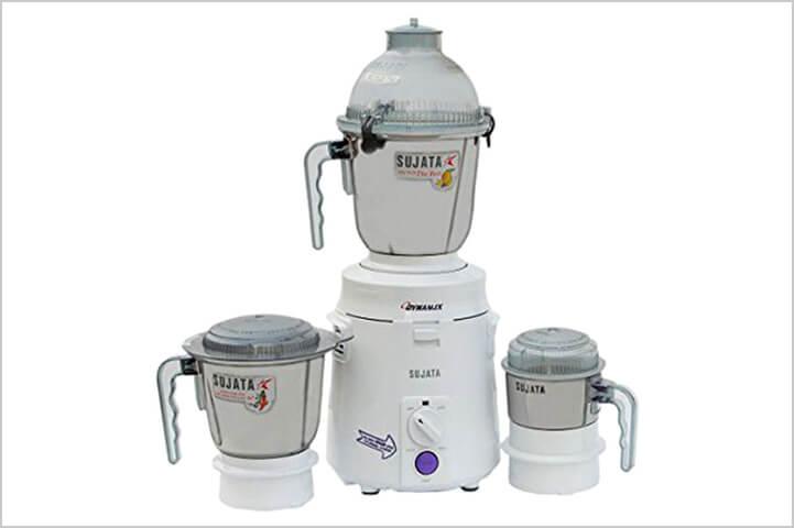 Sujata Dynamix DX 900-Watt Mixer and Grinder with 3 Jars-best mixer grinders in India