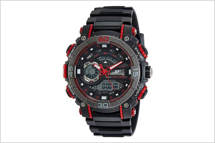 Sonata Fibre (SF) Digital Black Dial Men's Watch NM77070PP01-Best Watches For Men