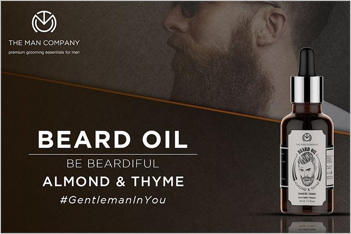 The Man Company BEARD OIL | ALMOND & THYME-Best Beard Oil in India