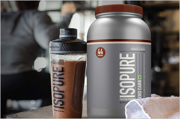 Isopure Zero Carb 100% Whey Protein Isolate Powder-Best Protein Powders For Men
